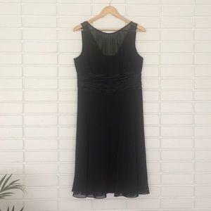 Jones Wear Dress Black Sheer Overlay Cocktail